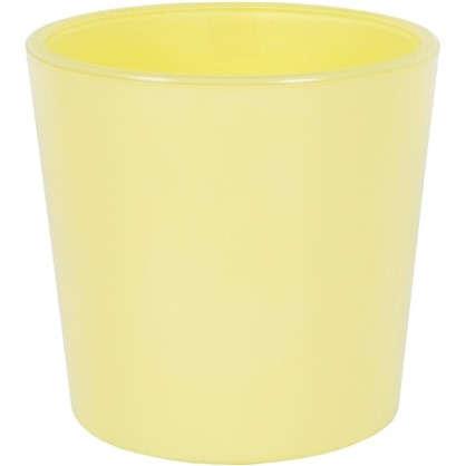 Кашпо 0.6 л 11.5 см стекло цвет жёлтый
