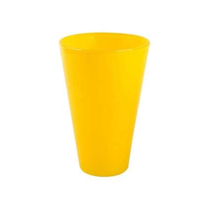 Кашпо 1.3 л 140 мм стекло цвет прозрачный жёлтый