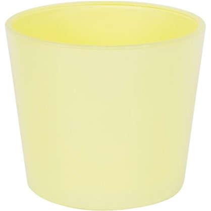 Кашпо 1.1 л 14.5 см стекло цвет жёлтый