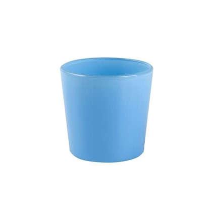 Купить Кашпо 2 л 17 см стекло цвет голубой дешевле