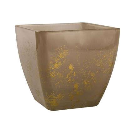 Кашпо Бетти 1.6 л 15 см стекло цвет прозрачный бежевый