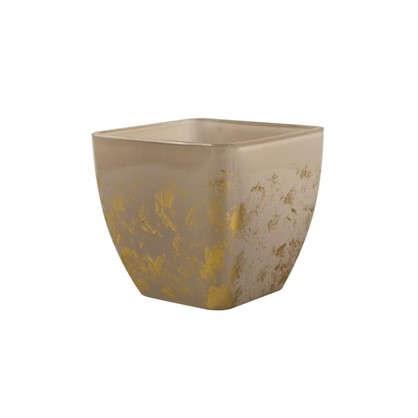 Кашпо Бетти 2.5 л 17.5 см стекло цвет прозрачный бежевый