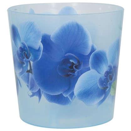 Купить Кашпо Деко синий 1.2 л 125 мм пластик дешевле