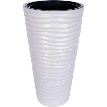 Кашпо Дюна 42 л 63 см цвет кремовый