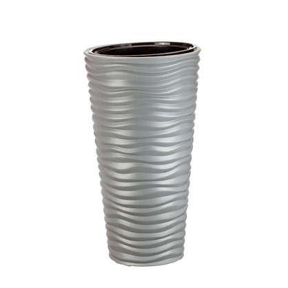 Кашпо Дюна 42 л 63 см цвет серый