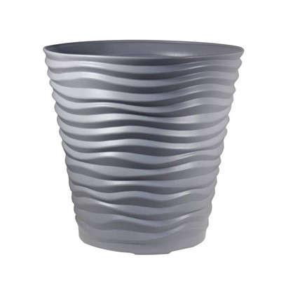 Кашпо Дюна 8.5 л 24 см цвет серый