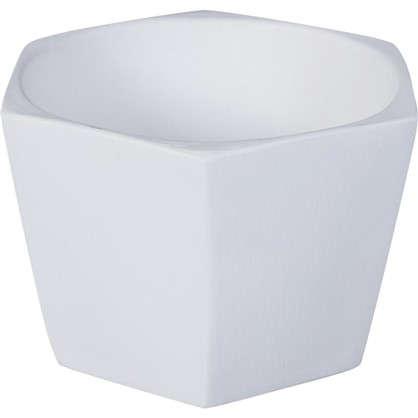 Кашпо Эджес шестигранник 0.75 л 14 см цвет белый