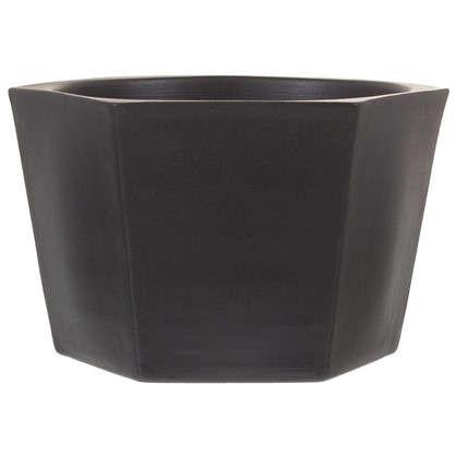 Кашпо Эджес шестигранник 1.5 л 18 см цвет чёрный
