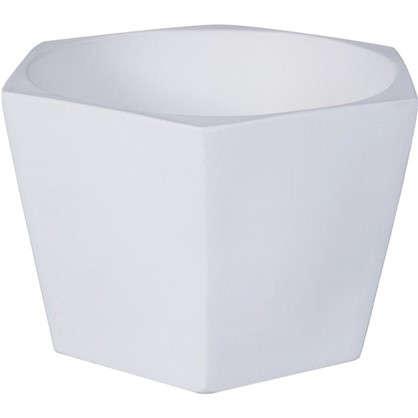 Кашпо Эджес шестигранник 2 л 22 см цвет белый
