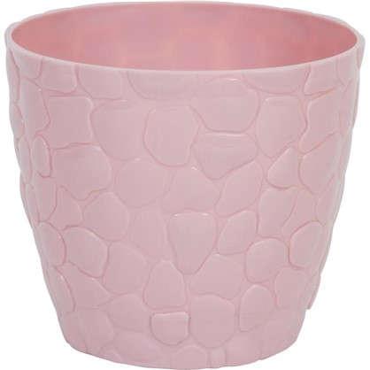 Купить Кашпо Камни 150 мм 1.4 л цвет чайная роза дешевле