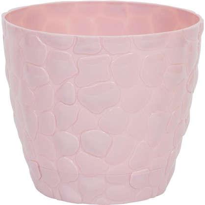 Кашпо Камни 220 мм 4.8 л цвет чайная роза