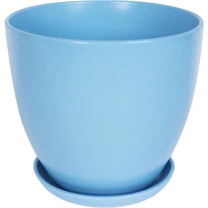 Кашпо Камни 4.8 л 220 мм с поддоном цвет чайная роза