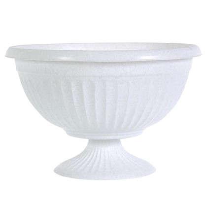 Кашпо-миска Ламела белый 400 мм пластик