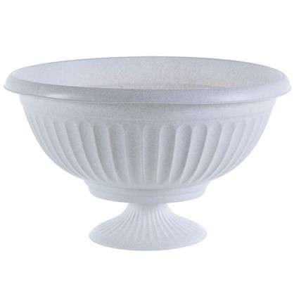 Кашпо-миска Ламела белый 500 мм пластик