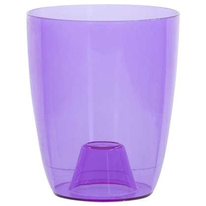Купить Кашпо Орхидея фиолетовый 1.3 л 130 мм пластик дешевле