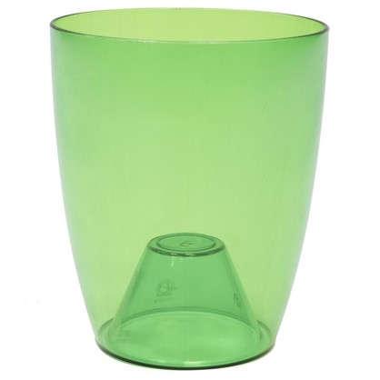 Кашпо Орхидея зелёный 2.4 л 160 мм пластик