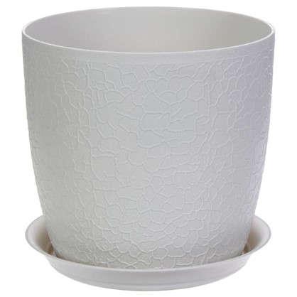 Купить Кашпо с поддоном Верона d160 мм 2.3 л ротанг цвет белый дешевле
