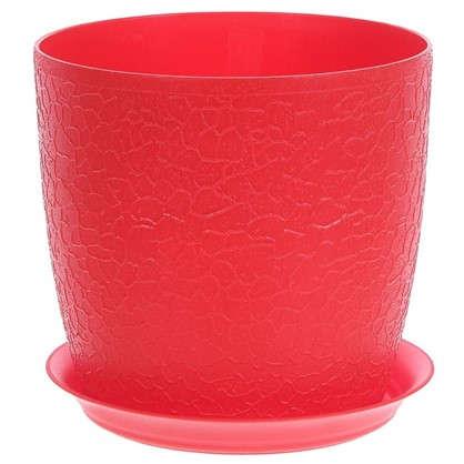 Кашпо с поддоном Верона d180 мм 3 л цвет красный
