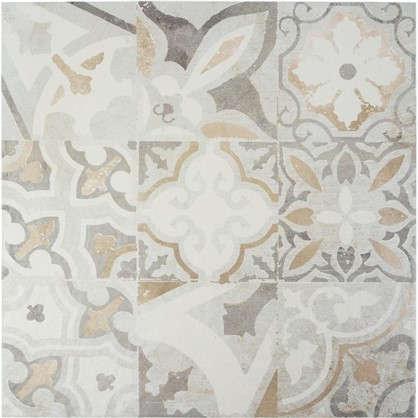 Керамогранит Cement Patchwork 45x45 см 1.42 м2 цвет серый