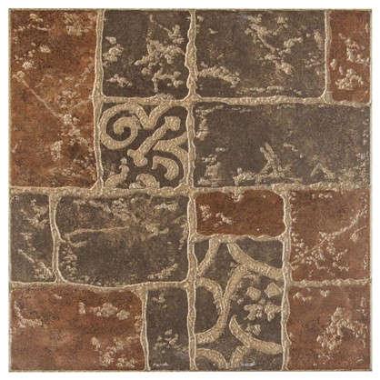 Купить Керамогранит Грес Рустик Бастион 4 40х40 см 1.76 м2 цвет коричневый дешевле