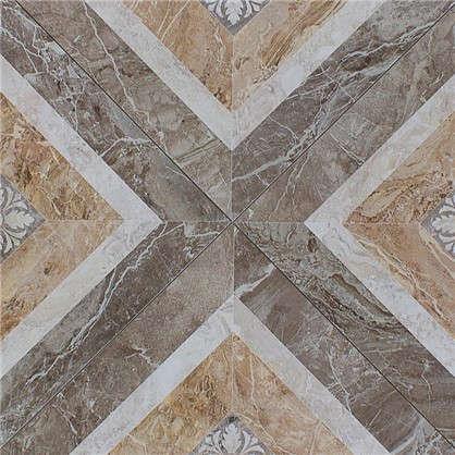 Керамогранит Privilege Moca Cassetone 45x45 см 1.01 м2 цвет коричневый