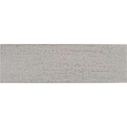 Керамогранит Teo 25х7.5 см 0.79 м² цвет серый глянцевый