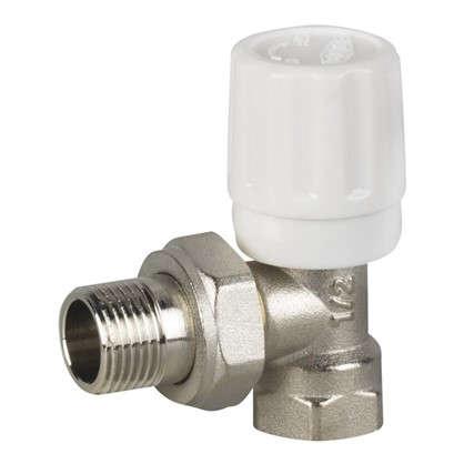 Клапан для радиатора регулировочный угловой Euros 1/2 дюйма