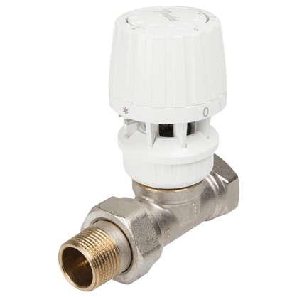 Клапан для радиатора запорный прямой для однотрубной системы отопления 3/4 дюйма