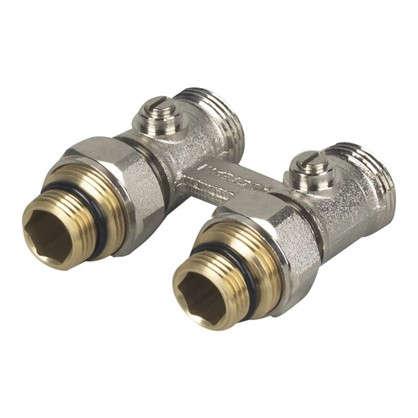 Клапан для радиатора запорный прямой Н-образный РОСТерм для двухтрубной системы отопления 1/2 дюйма