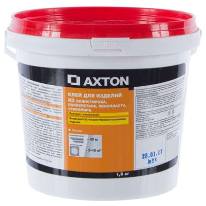 Клей Axton для потолочных изделий стиропоровый 1.5 кг