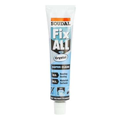 Клей-герметик Fix all crystal бесцветный 80 мл