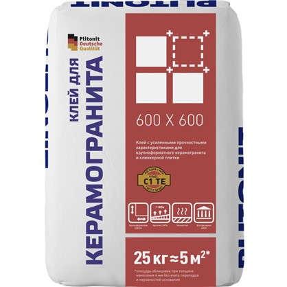 Клей Плитонит для керамогранита 25 кг