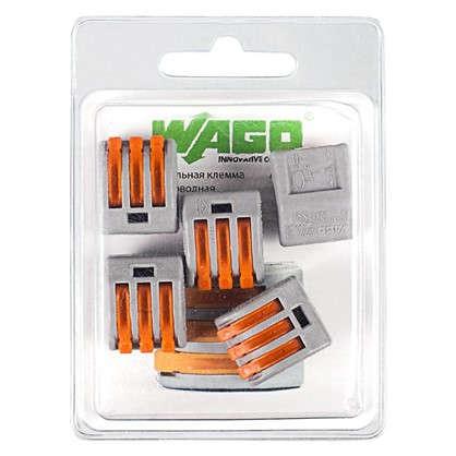 Купить Клемма Wago 3 разъема под провода 17х14.5х20х5 мм полиамид 5 шт. дешевле