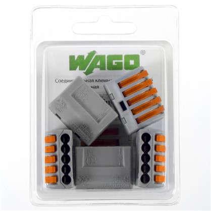 Клемма Wago 5 разъемов под провода 26.6х14х5х20.5 мм полиамид 5 шт.