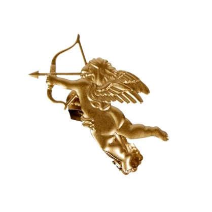 Клипса Амур цвет матовое золото