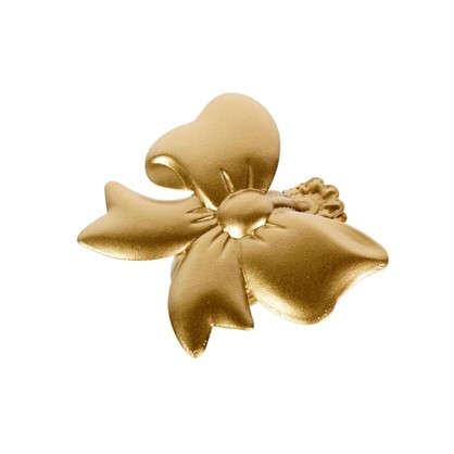 Купить Клипса Бант цвет матовое золото дешевле