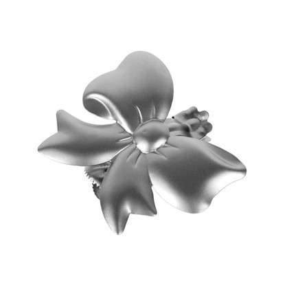 Клипса Бантик металл цвет хром