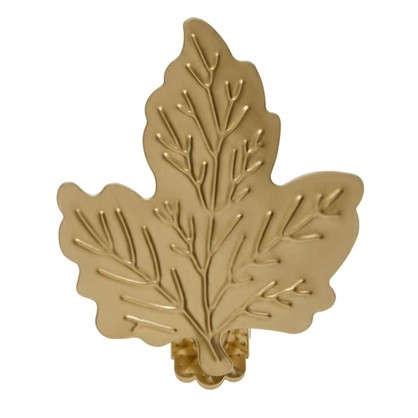 Клипса Лист металл цвет матовое золото