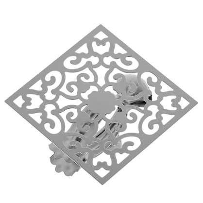 Клипса Орнамент металл цвет хром