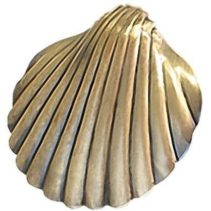 Клипса Ракушка цвет золото антик