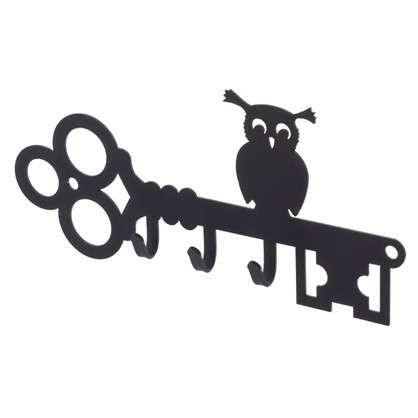 Ключница DuckandDog Сова 190х99х19 мм сталь цвет чёрный матовый