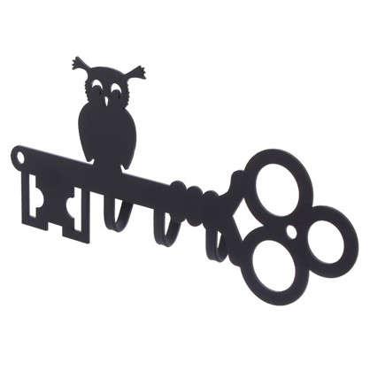 Купить Ключница DuckandDog Сова 190х99х19 мм сталь цвет чёрный матовый дешевле
