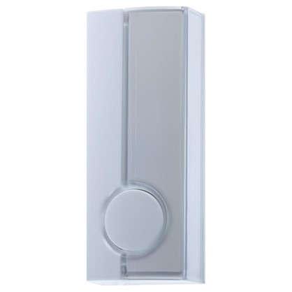 Кнопка для проводного для звонка Zamel 220 В цвет белый