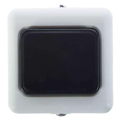 Купить Кнопка для проводного звонка 220 В цвет белый/чёрный дешевле