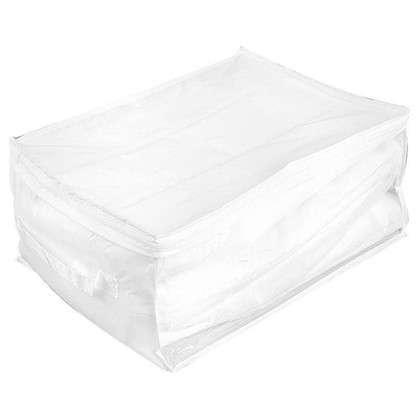 Купить Кофр 60х30x45 см нетканый материал цвет белый дешевле