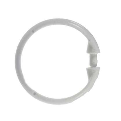 Купить Кольца для шторок с клипсами Vidage цвет белый дешевле