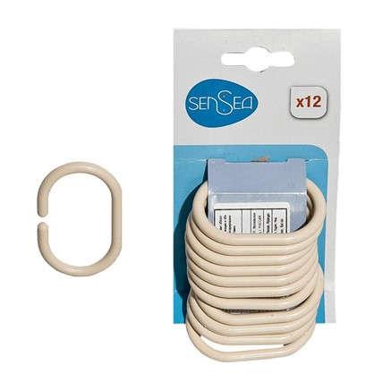 Купить Кольца для шторок Sensea пластиковые цвет бежевый 12 шт дешевле