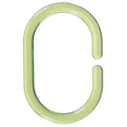 Купить Кольца для шторок Sensea пластиковые цвет зеленый 12 шт дешевле