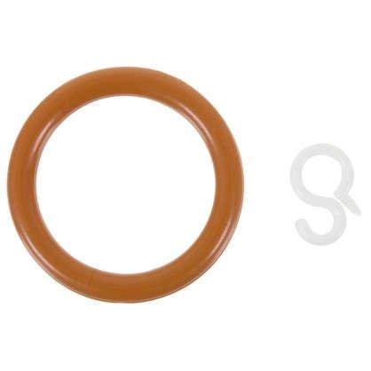 Купить Кольцо пластик цвет черешня с крючоком 4 шт. дешевле