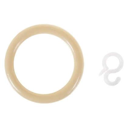 Кольцо пластик цвет натуральный с крючоком 4 шт.